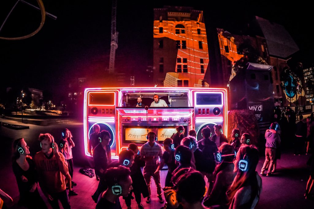 Event Ideas, Mobile Stage, Neon Truck